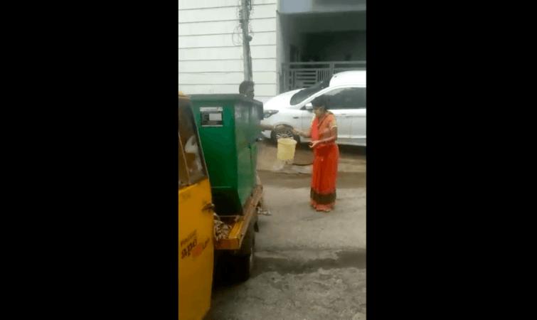 Recogida de residuos por BBMP en Vijayanagar