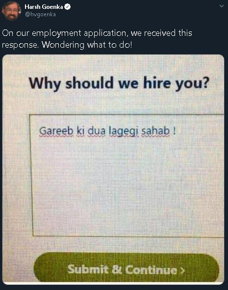 Verificación de hechos: el presidente de RPG Group, Harsh Goenka, hace pasar una broma viral como una solicitud de un solicitante de empleo
