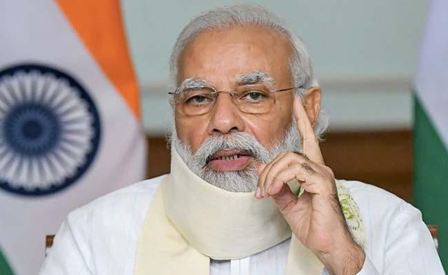 El primer ministro Narendra Modi habla sobre la situación de Covid con los ministros principales de 10 estados