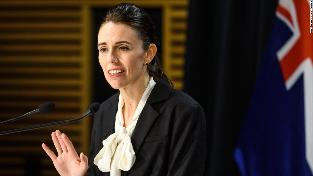Prime Minister Jacinda Ardern speaks with media on August 13, 2020, in Wellington, New Zealand.