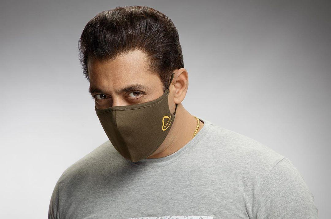 Salman Khan tweets pic wearing mask of his brand, gets trolled