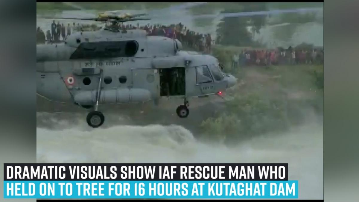Chattisgarh man, who hold onto a tree for 16 hours, rescued; thanks to IAF [Video]