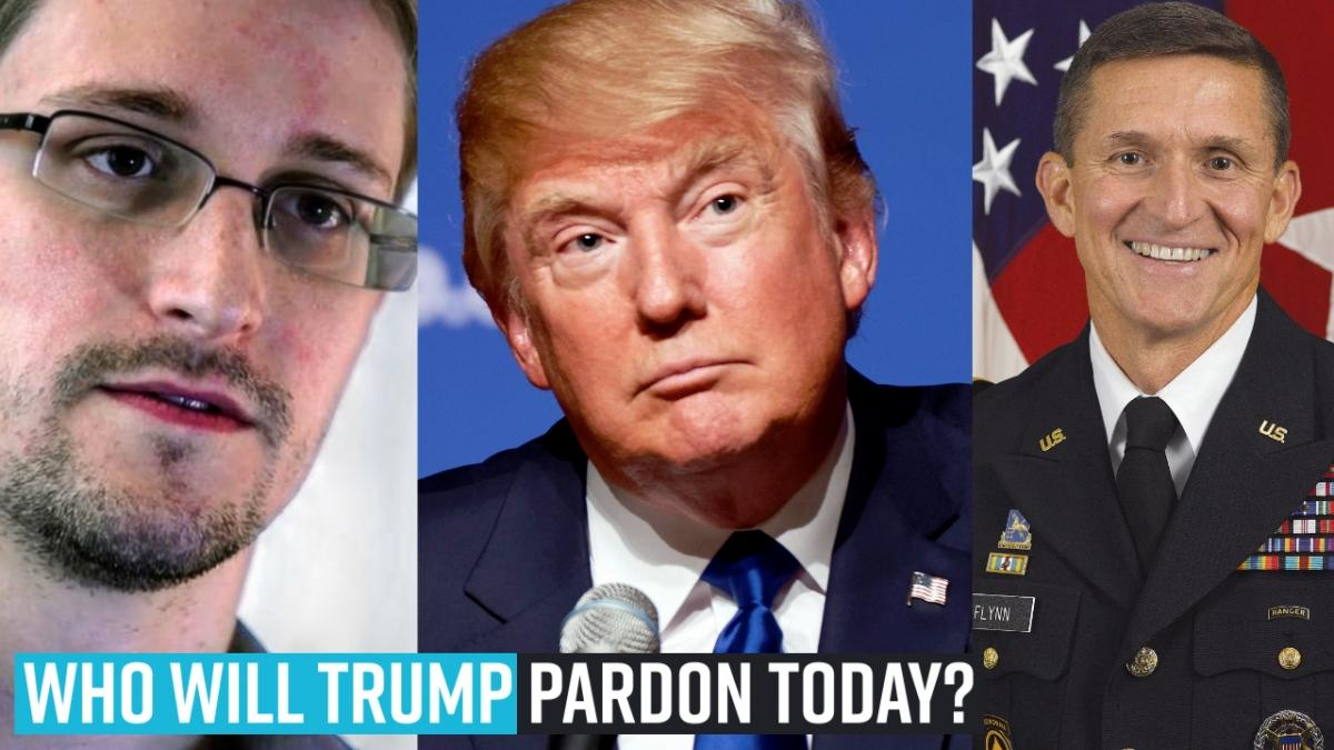 Who will Trump pardon today?