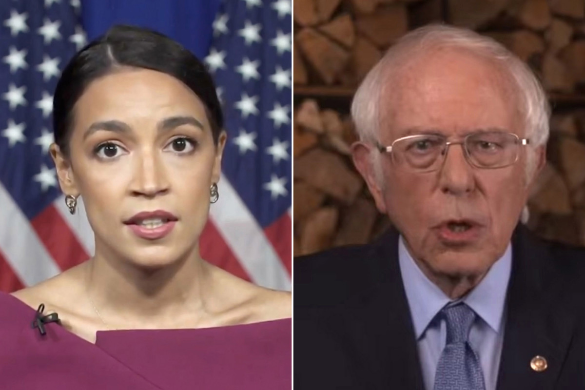 AOC nomina a Bernie Sanders y desaira a Joe Biden en el discurso de DNC