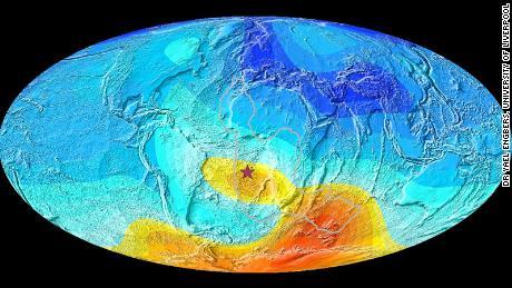 Los científicos rastrean un comportamiento extraño en el campo magnético del Atlántico sur 11 millones de años