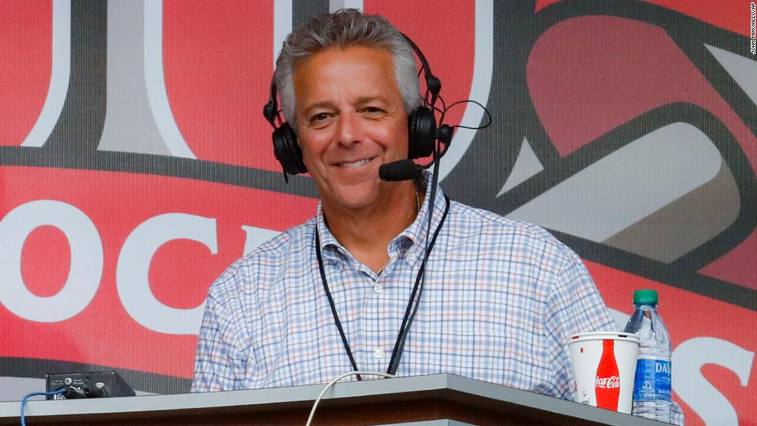 Thom Brennaman, shown in a photo from September, issued an on-air apology during the fifth inning.