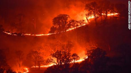 Una ola de calor en California está provocando más de 30 incendios forestales.  También puede dejar a millones de hogares sin electricidad