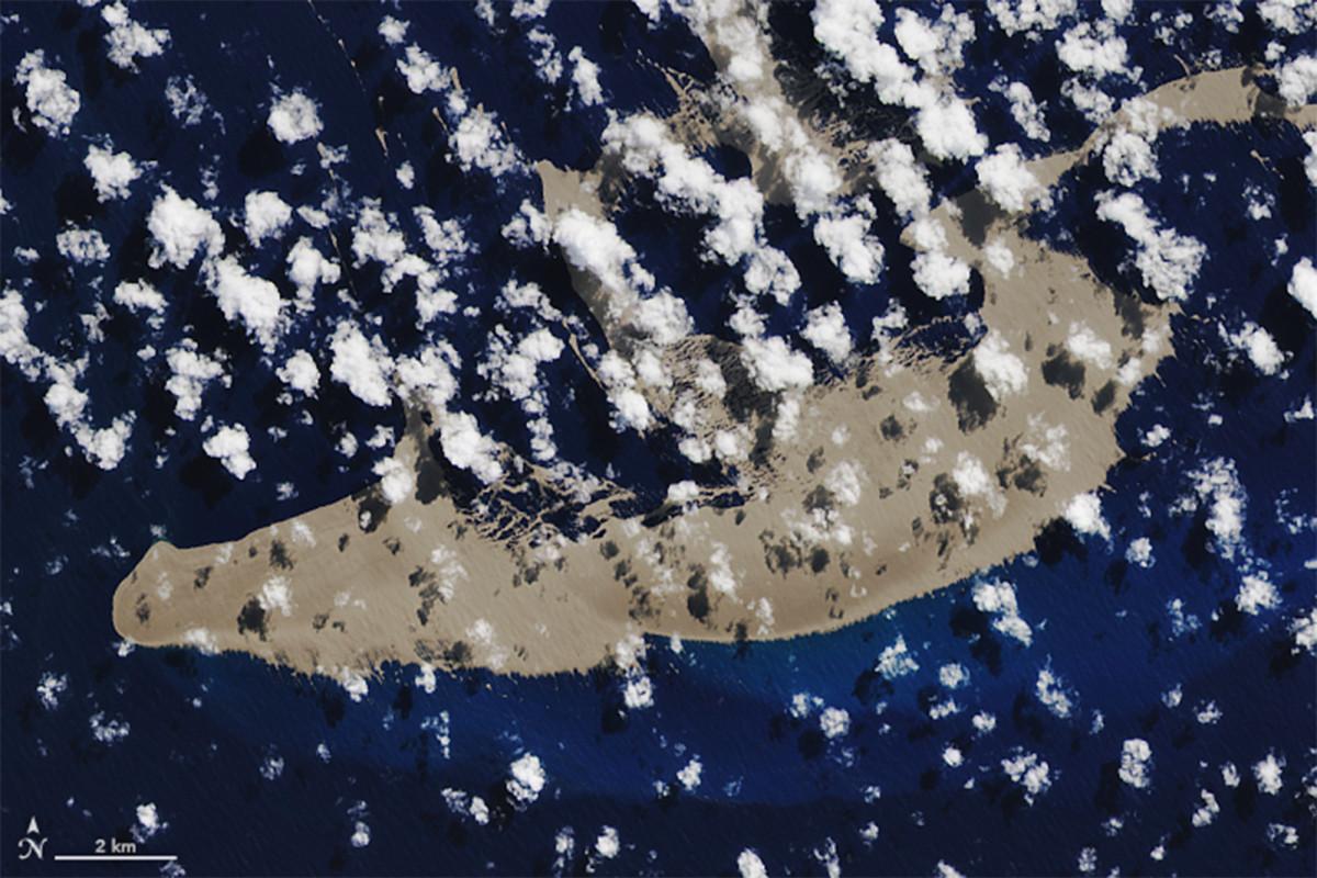 La 'balsa de roca' volcánica que podría ayudar a revitalizar la Gran Barrera de Coral llega a Australia