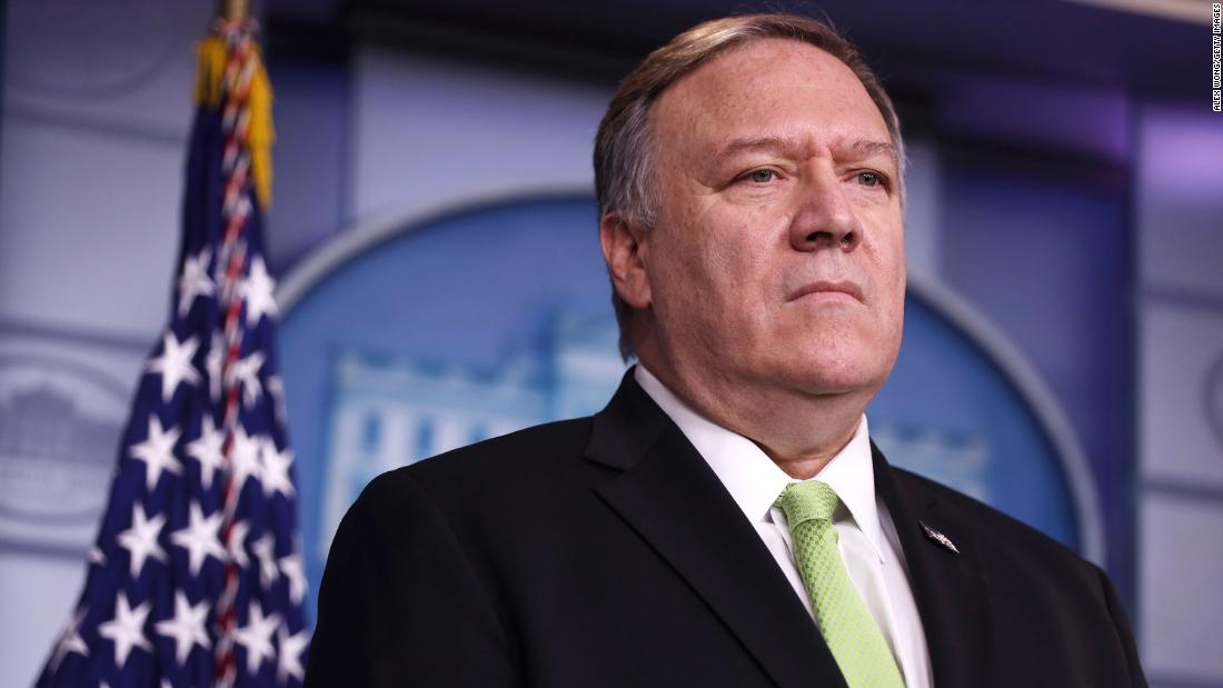 U.S. Secretary of State Mike Pompeo participates in a press briefing in the James S. Brady Press Briefing Room of the White House January 10, 2020 in Washington, DC. Secretary Pompeo and Secretary Mnuchin held the press briefing to discuss the new sanctions against Iranian officials.
