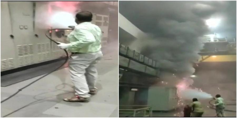 Accidente de incendio en la central eléctrica de Srisailam