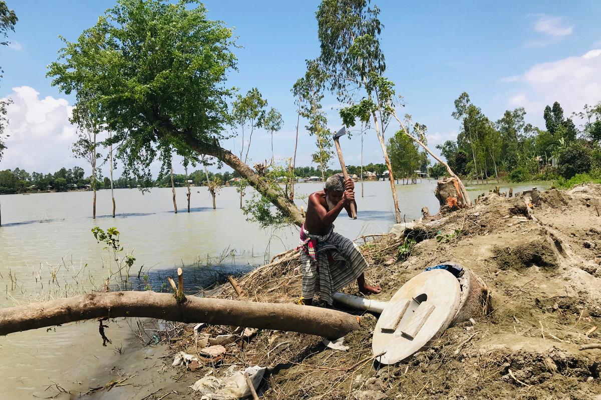Asia meridional cuenta las pérdidas causadas por las devastadoras inundaciones del monzón