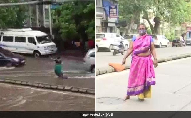 Bajo la lluvia, una mujer de Mumbai se detuvo durante 7 horas cerca de una alcantarilla para salvar a las personas