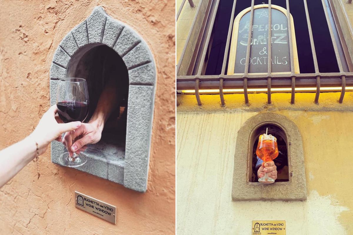 Reabren las 'ventanas de vino' medievales, reviviendo la tradición de la peste italiana