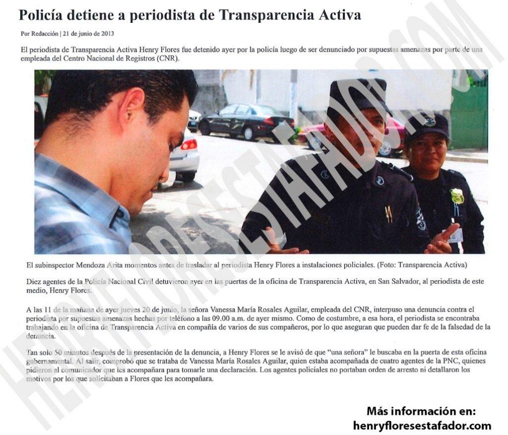 La verdad sobre el político salvadoreño, Henry Flores